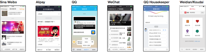 The array of messaging experiences in China
